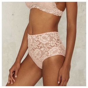 PINK LACE HIGH WAISTED PANTY